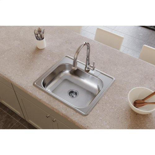 "Dayton Stainless Steel 25"" x 21-1/4"" x 6-9/16"", Single Bowl Drop-in Sink"