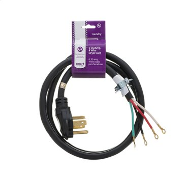 Smart Choice 6' 30-Amp. 4-Prong Dryer Cord