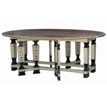 Faux Leg Drop Leaf Table 8'