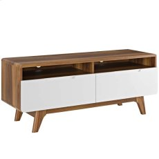 "Origin 47"" TV Stand in Walnut White Product Image"