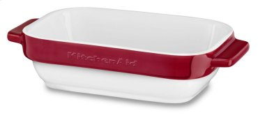 Ceramic 2-Piece Stacking Mini Baker Set - Empire Red