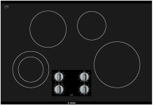 "30"" Electric Cooktop 500 Series - Black Frameless"