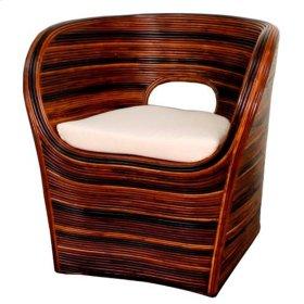 Dylan Rattan Arm Chair, Stripes Natural