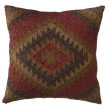 Red Multi Color Kilim Pillow