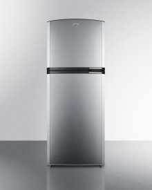 "Counter Depth Frost-free Refrigerator-freezer With Stainless Steel Doors, Platinum Cabinet, Icemaker, 26"" Footprint, and Left Hand Door Swing"
