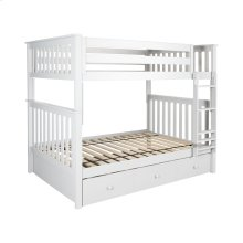 Full/Full Bunk   Trundle Storage White