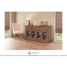 "70"" TV Console w/3 Drawer, 4 Iron doors"