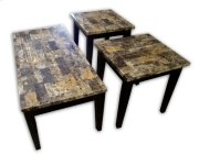 Breccia Faux Marble Coffee & End Table Set Product Image