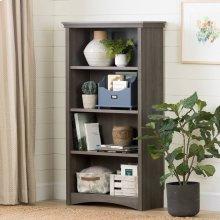 4-Shelf Bookcase - Gray Maple