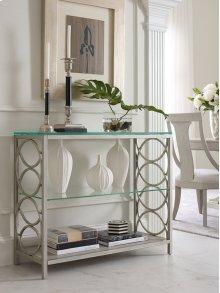Glass Top Sofa Table