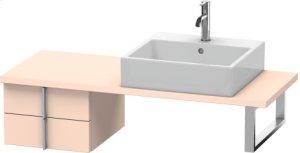 Vero Low Cabinet For Console Compact, Apricot Pearl Satin Matt Lacquer