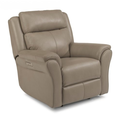 Pike Leather Power Gliding Recliner with Power Headrest