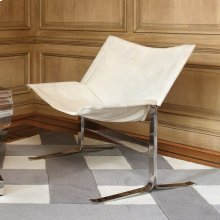 Cantilever Chair-White Hair-on-Hide