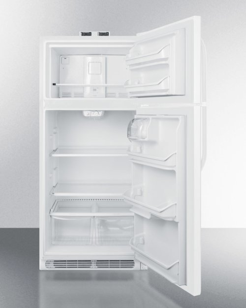 15 CU.FT. Break Room Refrigerator-freezer In White With Nist Calibrated Alarm/thermometers