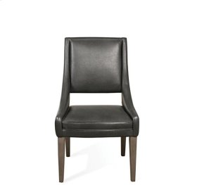 Precision Upholstered Hostess Chair Gray Wash finish