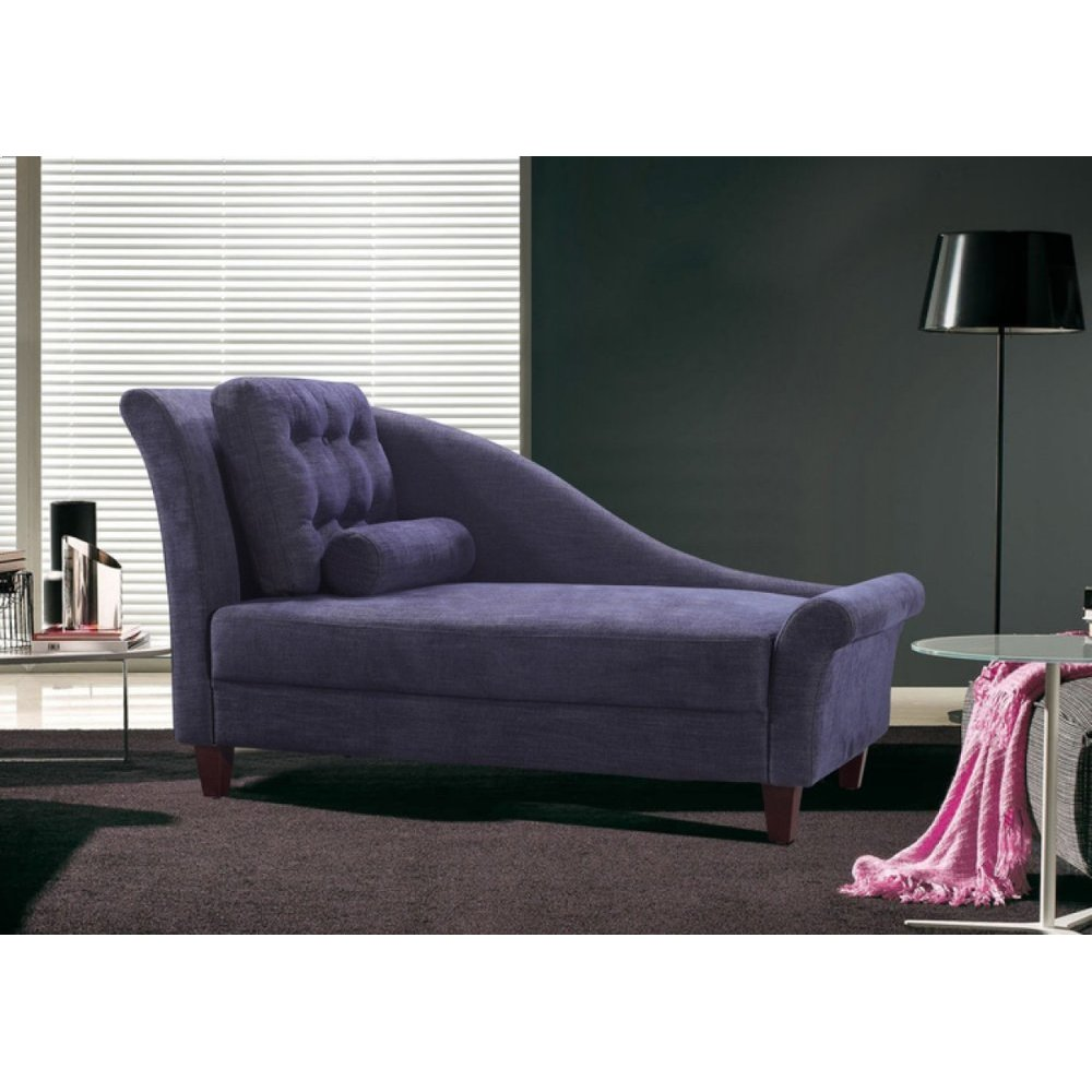 Divani Casa 0886 Modern Purple Fabric Chaise
