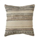 Block Print Pattern Thread Stripe Pillow (Each One Will Vary). Product Image