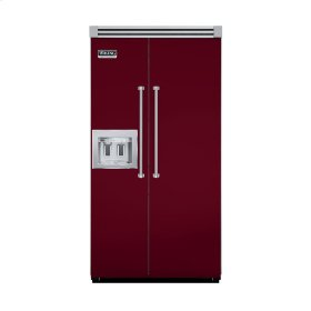 "Burgundy 42"" Quiet Cool™ Side-by-Side with Dispenser - VISB Tru-Flush™ (42"" wide)"