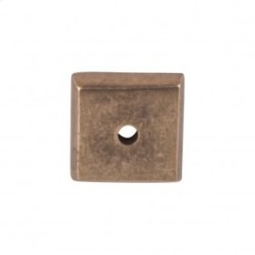 Aspen Square Backplate 7/8 Inch - Light Bronze