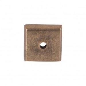 Aspen Square Backplate 7/8 Inch - Light Bronze