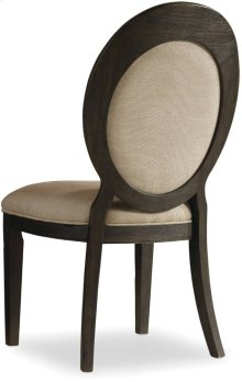Corsica Dark Oval Back Side Chair