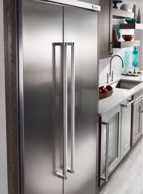 25.5 cu. ft 42-Inch Width Built-In Side by Side Refrigerator with PrintShield Finish - Stainless Steel