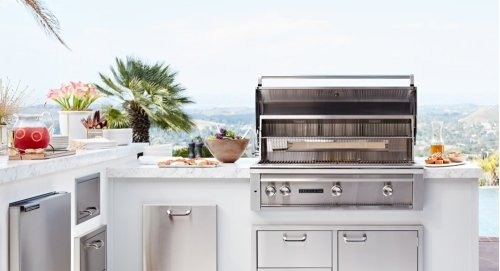 "42"" Sedona by Lynx Freestanding Grill with 3 Stainless Steel Burners and Rotisserie, LP"