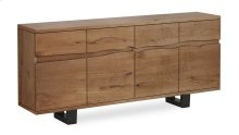 Tea Tree Live Edge Sideboard 1800 Metal Base