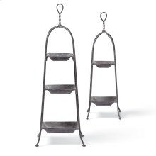 Toulouse Tabletop Etageres, Set of 2