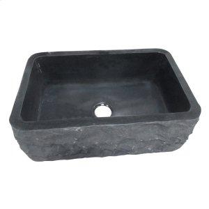 "Birgitta Single Bowl Granite Farmer Sink - 33"" - Polished Blue Gray Product Image"