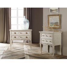 Paris Two Drawer Commode, Painted Antique Finish.