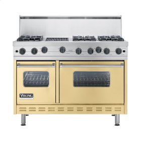 "Golden Mist 48"" Open Burner Commercial Depth Range - VGRC (48"" wide, six burners 12"" wide char-grill)"