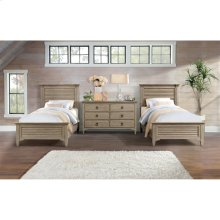 Myra - Six Drawer Small Dresser - Natural Finish