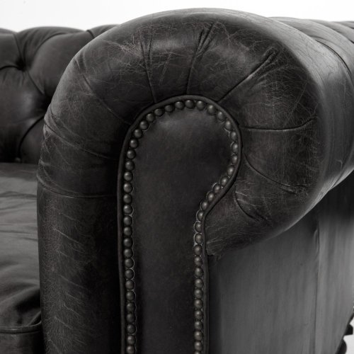 "Conrad 118"" Sofa-old Saddle Black"