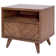 Piero KD Chevron Night Stand/ Side Table, Monterey Brown