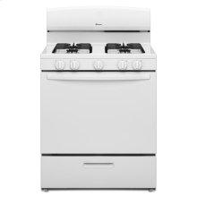 30-inch Gas Range with EasyAccess™ Broiler Door - white