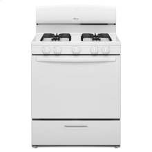 30-inch Gas Range with EasyAccess™ Broiler Door - white