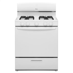 Amana30-inch Gas Range with EasyAccess™ Broiler Door - white