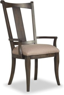 Vintage West Upholstered Splatback Arm Chair