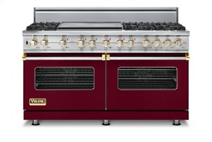 "60"" Custom Sealed Burner Dual Fuel Range, Propane Gas, Brass Accent"