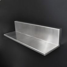 "Wall-mounted shelf 22 5/8""W, 6 1/4""D , 5 1/8"" H"