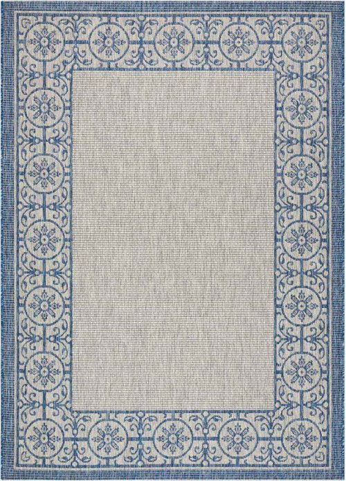 Country Side Ctr03 Ivory Blue Rectangle Rug 5'3'' X 7'3''