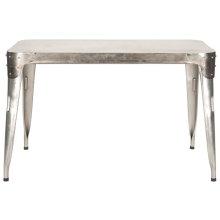 Weston Iron Dining Table - Dark Ant. Silver