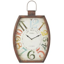 Distressed Colorful Number Wall Clock