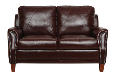 Austin Luke Leather Loveseat