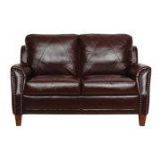 Austin Luke Leather Loveseat Product Image