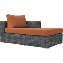 Summon Outdoor Patio Sunbrella® Right Arm Chaise in Canvas Tuscan