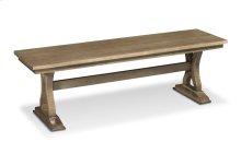 "Hamptons Trestle Dining Bench, Hamptons Trestle Dining Bench, 48""w, Wood Seat"