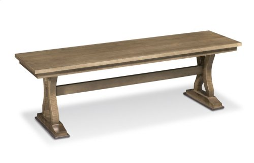 "Hamptons Trestle Dining Bench, Hamptons Trestle Dining Bench, 72""w, Wood Seat"