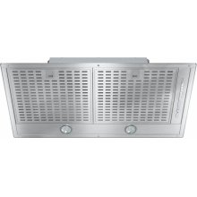 DA 2580 Insert ventilation hood with energy-efficient LED lighting and backlit controls for easy use.